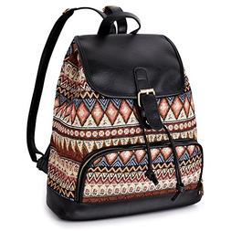 Vibiger Stylish Canvas Backpack Casual Bag Drawstring Backpa
