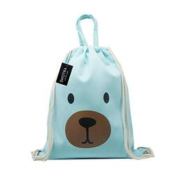 Artone Cartoon Bear Drawstring Bag Travel Daypack Sports Por