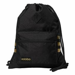 adidas Classic 3S Sackpack, Black/Gold, One Size