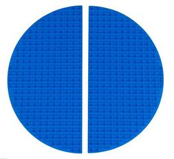 Classic Blue Half Circle Roll Up Building Mat by Strictly Br