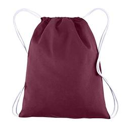 BagzDepot 100% COTTON Budget Friendly Sport Drawstring Bag C