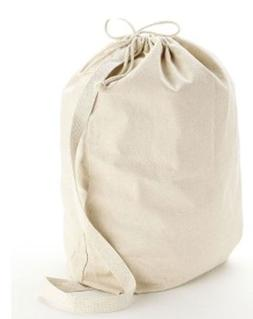 Medium Natural 12 oz. Cotton Canvas Laundry Drawstring Bags