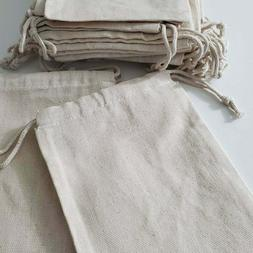 Cotton Muslin Bag. Cotton Canvas Double Drawstring Muslin Ba