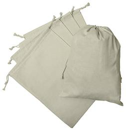 100 Percent Cotton Muslin Drawstring Bags For Storage Pantry
