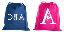 Custom Monogram Cinch Sacks, Bulk Drawstring Bags, Personali