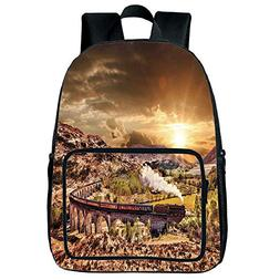 iPrint Customizable Square Front Bag Backpack,Wizard,Wizard