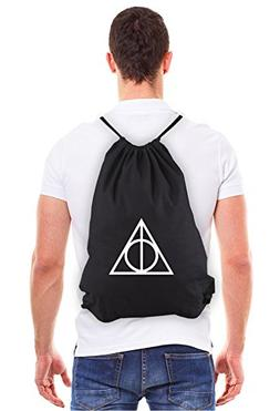 Deathly Hallows Harry Potter Eco-Friendly Draw String Bag in