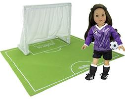 Sophia's Doll Sports Goal, Field and Ball in Mesh Bag, Perfe