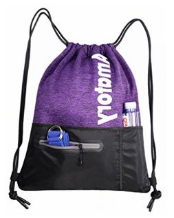 Drawstring Backpack Sports Athletic Cinch Sack Gymsack Sackp 833e7157fec45