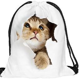 Drawstring Backpack for Traveling or Shopping Casual Daypack
