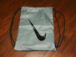 Nike Drawstring Backpack Bag Gym Sack Black/Gray Nylon NWOT