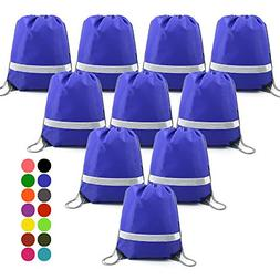 BeeGreen Drawstring Backpack Bags Reflective Bulk Pack, Prom
