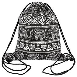 Peicees Drawstring Backpack Canvas Drawstring Bag Sackpack G