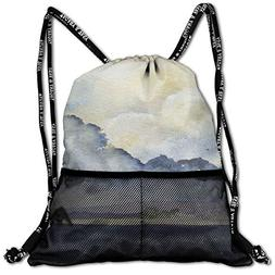 Sport Drawstring Backpack Sport Gym Bag Beatybag,Watercolour