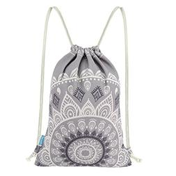 Miomao Drawstring Backpack Gym Sack Pack Mandala Style Strin