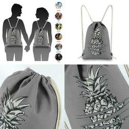 Miomao Drawstring Backpack Gym Sackpack Pineapple Style Stri