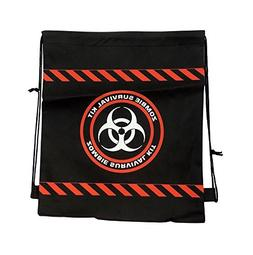 Drawstring Backpack Zombie Survival Bag 3 Pack