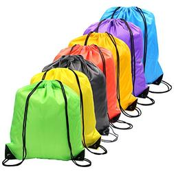 7 Colors Drawstring Bag Sack Pack Cinch Tote Kids Adults Sto