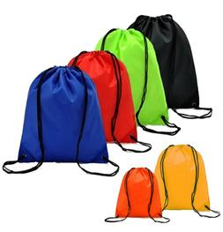 "Drawstring Unisex Backpack 20"" x 17"" Tote Sock Sack Pack Nyl"