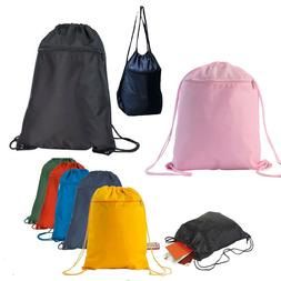 Drawstring Unisex Backpack Tote Sock Sack Pack Nylon Bag Dua