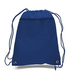 BagzDepot Promotional Durable Polyester Drawstring Bag,Back