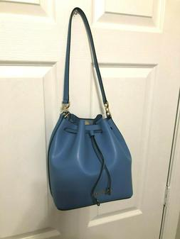 Michael Kors Eden Medium Bucket Crossbody Bag in French Blue