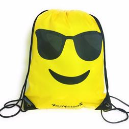 Emoji Bag for Kids Boys and Girls, Halloween Drawstring Back