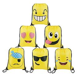 BeeGreen Emoji Party Supplies Favors Bags Drawstring Backpac
