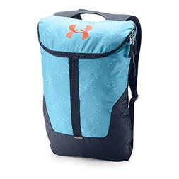 Under Armour Expandable Sackpack, Venetian Blue /Magma Orang