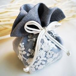 Fashion Drawstring Jewelry Pouch Cotton Mix Gift Bags Small