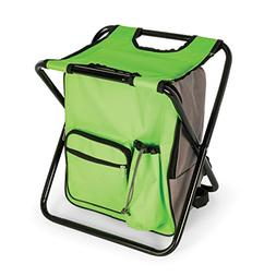 Camco 51909 Camping Stool/Backpack/Cooler-Green