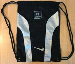 Nike Football Backpack Drawstring Shoe Bag Cleat Sack Black