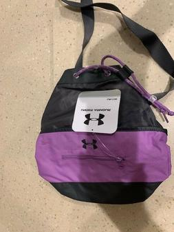 Under Armour Girls Purple Black Drawstring school gym Backpa