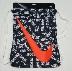 Nike Graphic Gym Sack Drawstring Bag Black/White/Bright Crim