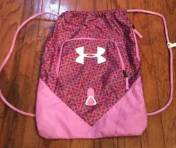 Under Armour Graphic Pink Drawstring Sport Athletic Bag NWOT
