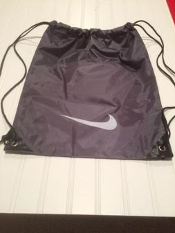 NIKE GREY NYLON DRAWSTRING GYM BAG BACKPACK