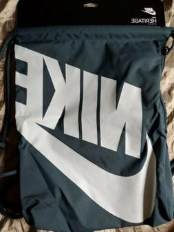 Nike Gym Bag dark green BA5351-328 draw string zipper side p