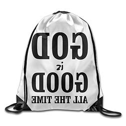 Gym Drawstring Bag God Is Good All The Time Backpack Bag
