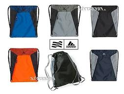 Adidas Gym Sack Drawstring Backpack Sport Bag Zipper Pouch A