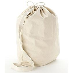 Heavy Canvas Drawstring Laundry Bags with Shoulder Strap