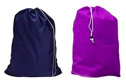 Large 30 X 40 Inch Heavy Duty Nylon Laundry Bag with Drawstr
