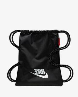 NIKE HERITAGE 2 GYMSACK BLACK/WHITE DRAWSTRING BAG BACKPACK