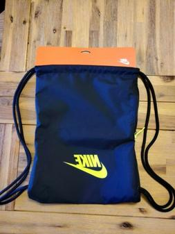 NIKE HERITAGE 2 GYMSACK BLACK/Yellow DRAWSTRING BAG BACKPACK