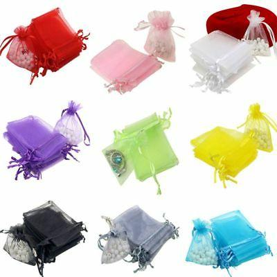 100pc Organza Gift Bags Jewelry Drawstring Bags Wedding Favo