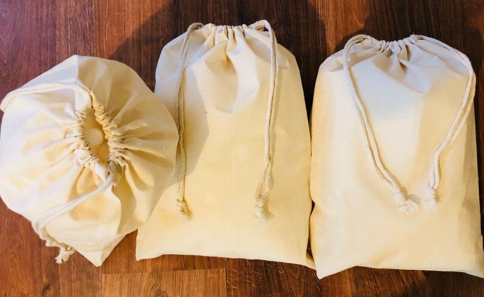 16 x Inches Poly Cotton Drawstring Premium Muslin Quantity