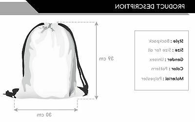 Ababalaya 3D Backpack Rucksack Gym Bag, Universe