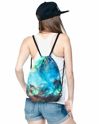Ababalaya Print Drawstring Backpack Rucksack Shoulder Gym