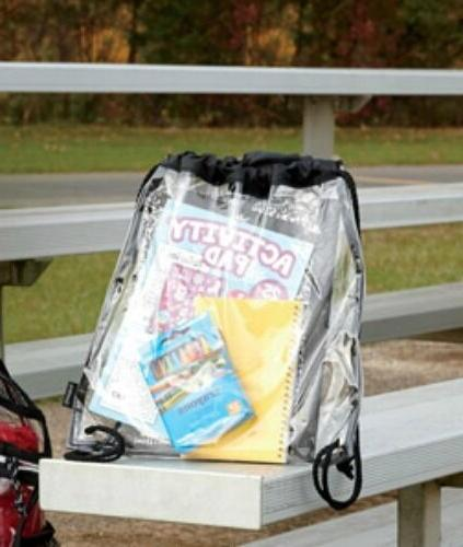Clear Drawstring Cinch Backpack Stadium Compliant
