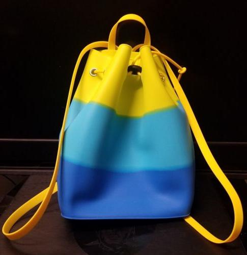 *** Drawstring Women Jelly Backpack Satchel RAINBOW BAG ***