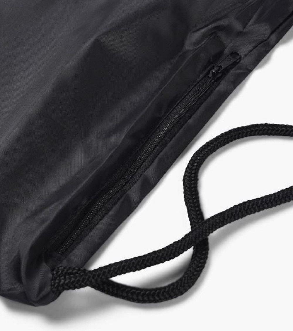 NEW GYMSACK DRAWSTRING BAG #BK6726 BLACK